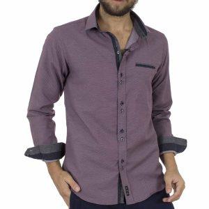 Μακρυμάνικο Πουκάμισο Slim Fit CND Shirts 3600 Μωβ