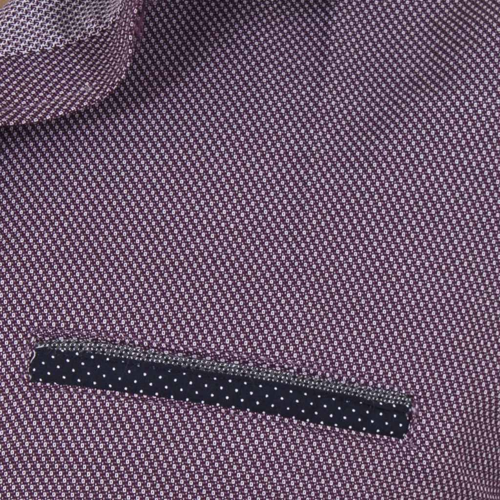 Μακρυμάνικο Πουκάμισο Slim Fit CND Shirts 3600-6 Μωβ  de157f0a7e8