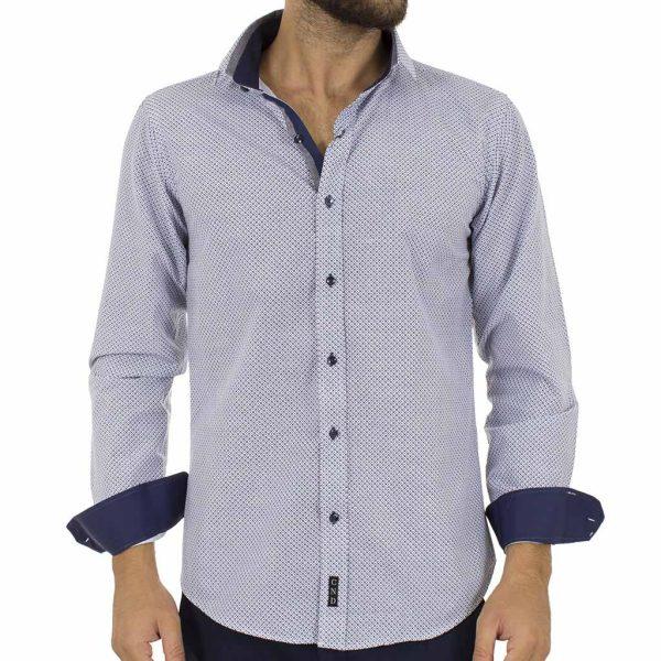 Μακρυμάνικο Πουκάμισο Slim Fit CND Shirts 3700 Navy