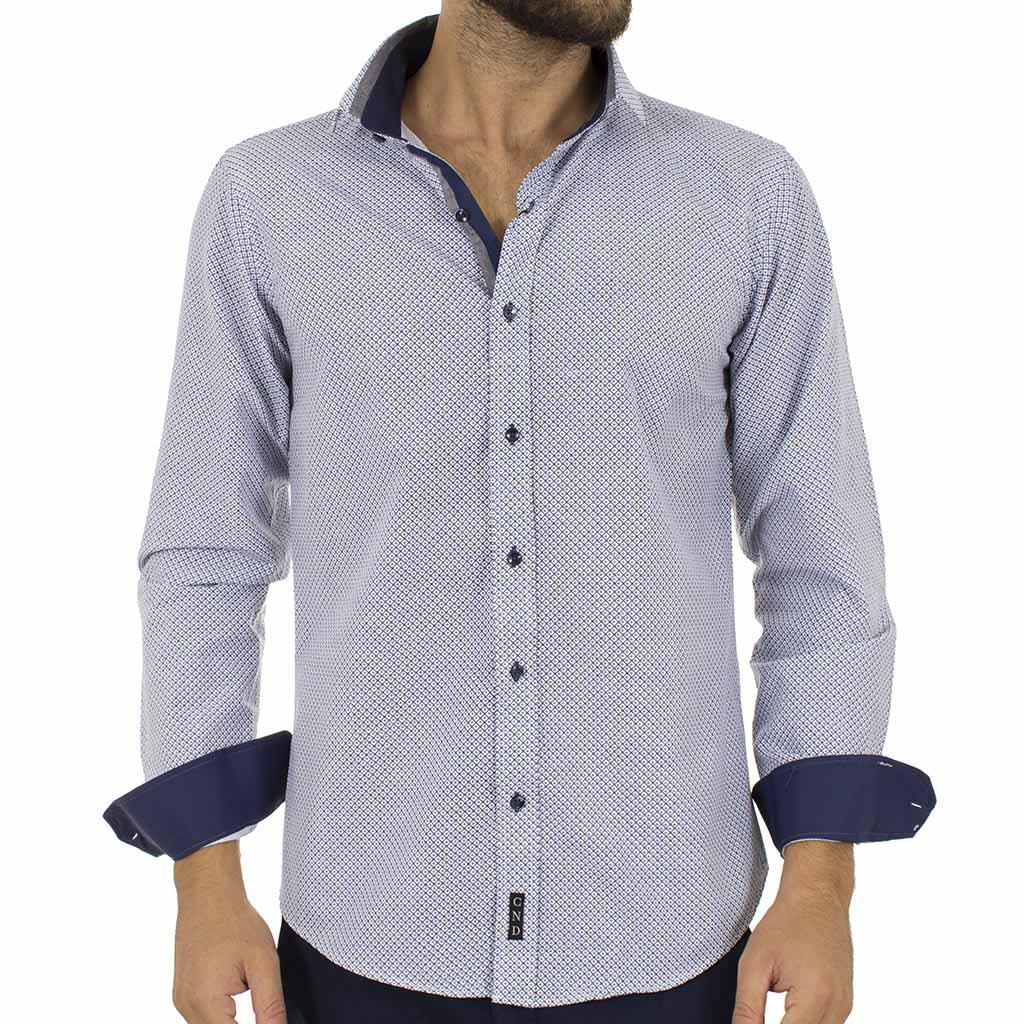 Μακρυμάνικο Πουκάμισο Slim Fit CND Shirts 3700-8 Navy  1fb20d57895