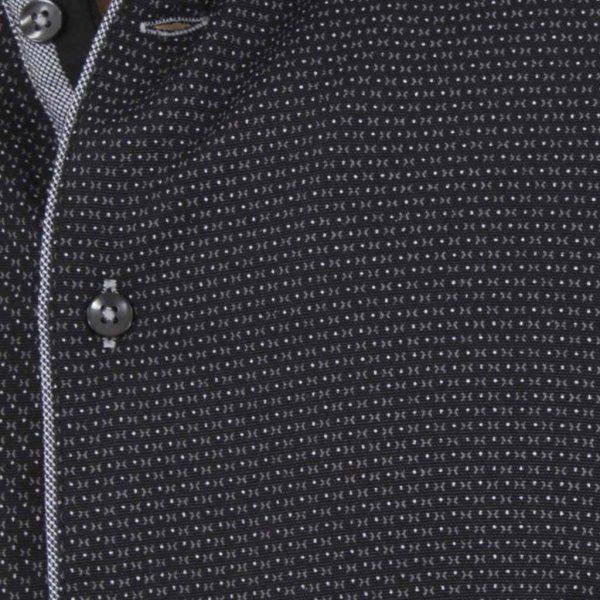 Μακρυμάνικο Πουκάμισο Slim Fit CND Shirts 3750 Μαύρο