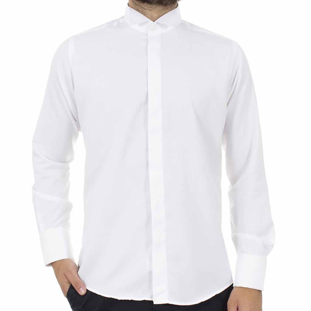 dfad12087895 Μακρυμάνικο Πουκάμισο με Γιακά για Παπιγιόν CND Shirts 80 Λευκό ...