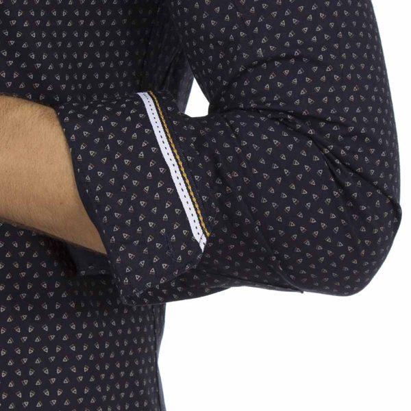 Μακρυμάνικο Πουκάμισο Slim Fit ENDESON CLUB 6015-100 σκούρο Μπλε