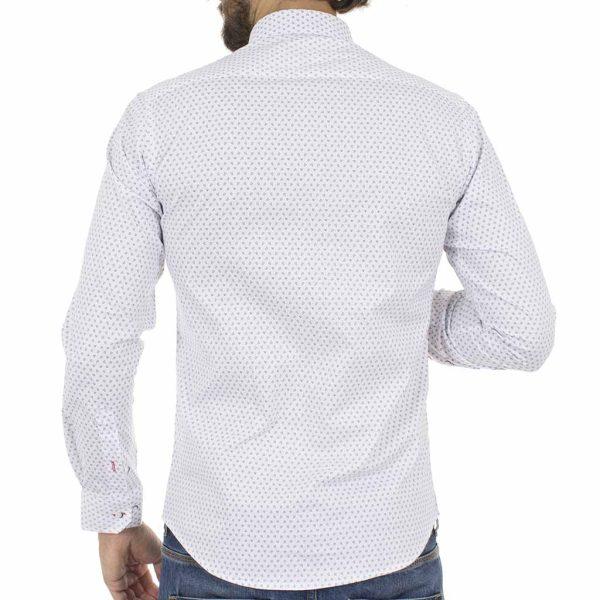 Μακρυμάνικο Πουκάμισο Slim Fit ENDESON CLUB 6015-100 Λευκό