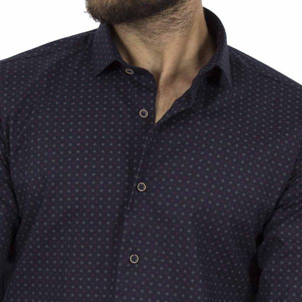 Μακρυμάνικο Πουκάμισο Slim Fit ENDESON CLUB 6020-100 σκούρο Μπλε