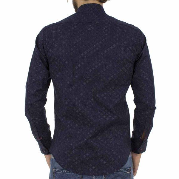 Μακρυμάνικο Πουκάμισο Slim Fit ENDESON CLUB 6025-100 σκούρο Μπλε
