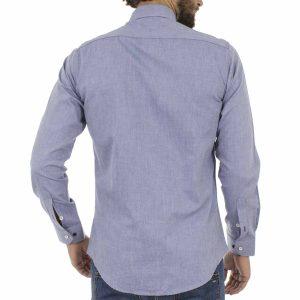 Μακρυμάνικο Πουκάμισο Slim Fit ENDESON CLUB 6035-100 Stone Blue