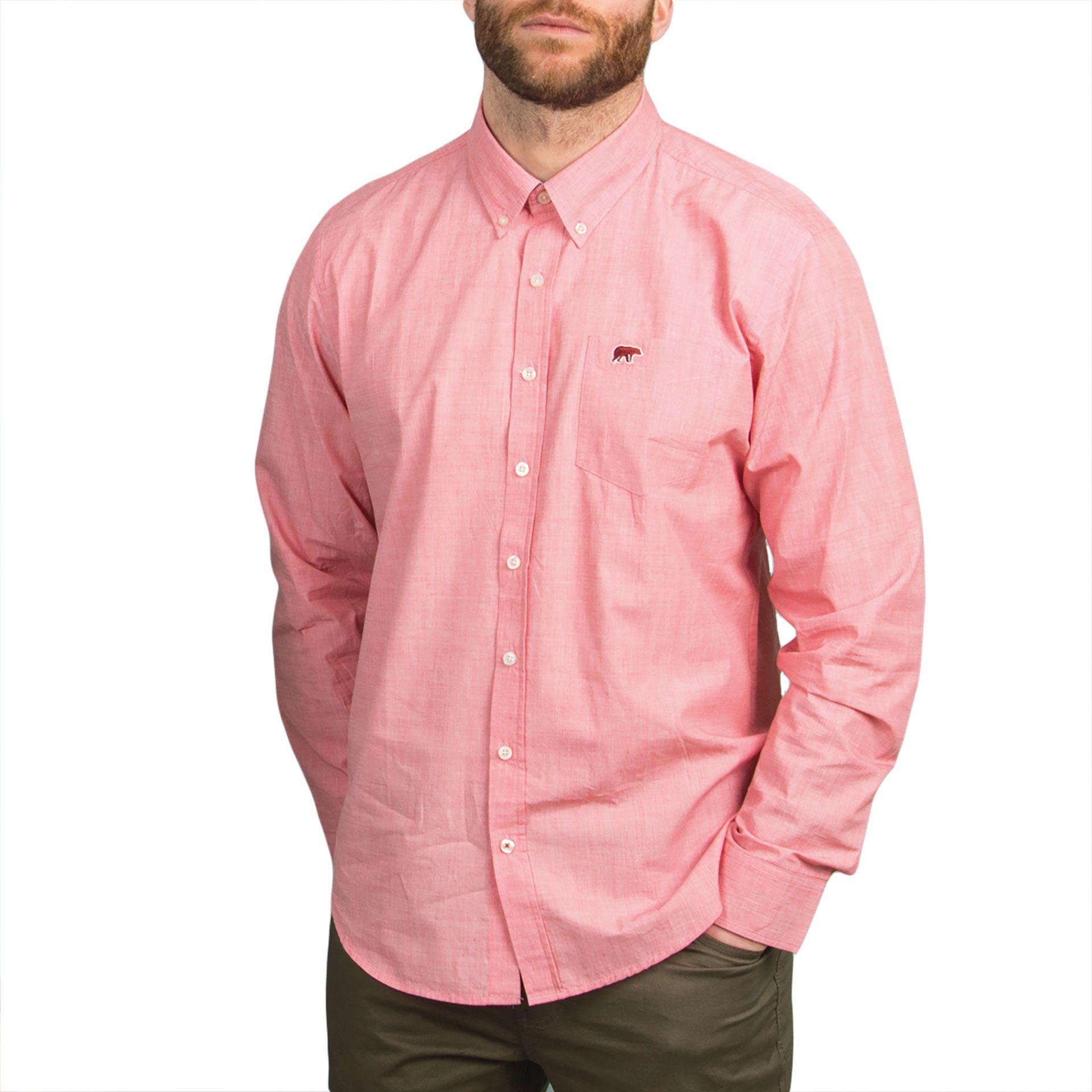 Ανδρικό πουκάμισο Double GS-442 Ροζ
