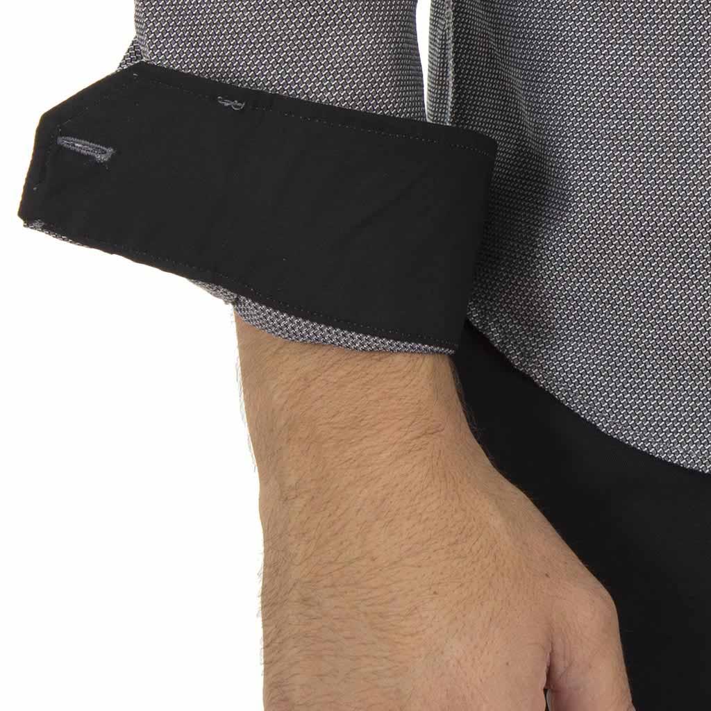 Μάο Μακρυμάνικο Πουκάμισο Slim Fit CND Shirts 3550-3 σκούρο Γκρι ... fbaedf0b89a