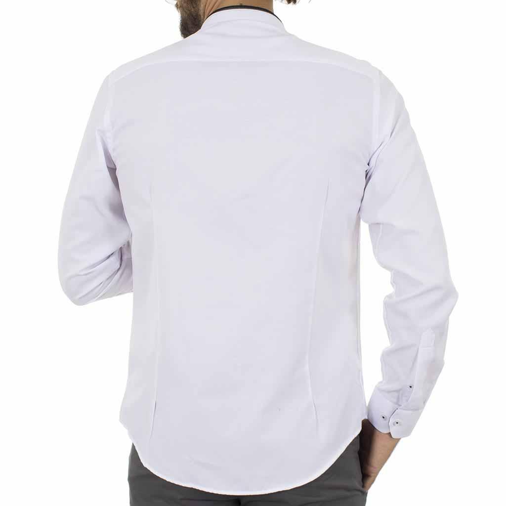 Μάο Μακρυμάνικο Πουκάμισο Slim Fit CND Shirts 3550-4 Λευκό ... 7b944097ee5