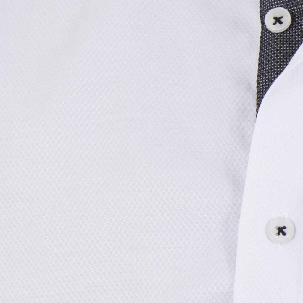 dd2618fa9e47 Μάο Μακρυμάνικο Πουκάμισο Slim Fit CND Shirts 3550-4 Λευκό ...