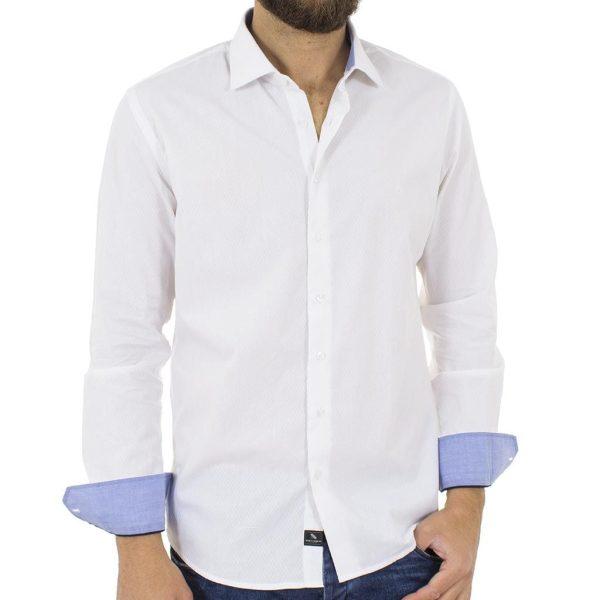 Μακρυμάνικο Πουκάμισο Slim Fit BENETO MARETTI SS17SH60-160A Λευκό