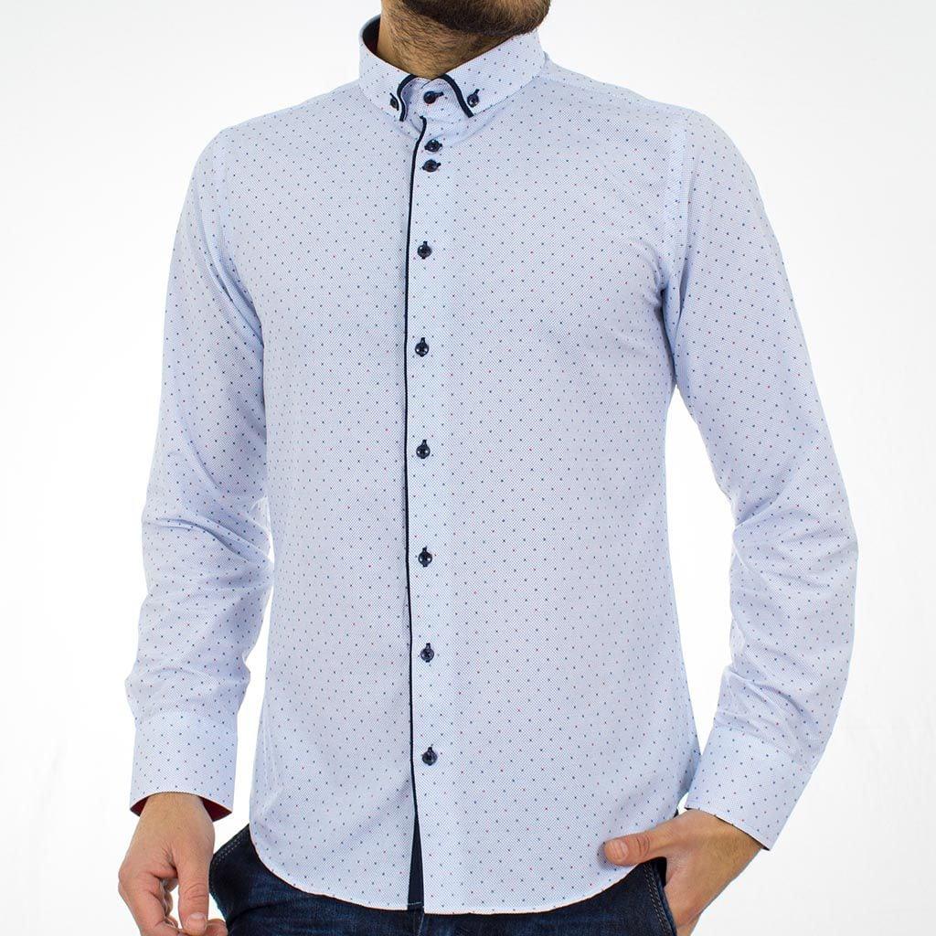 Μακρυμάνικο Πουκάμισο Slim Fit CND Shirts 2750-5 Γαλάζιο  4a07b85b466