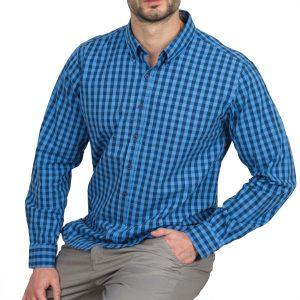 Ανδρικό πουκάμισο Double GS-444 Μπλε