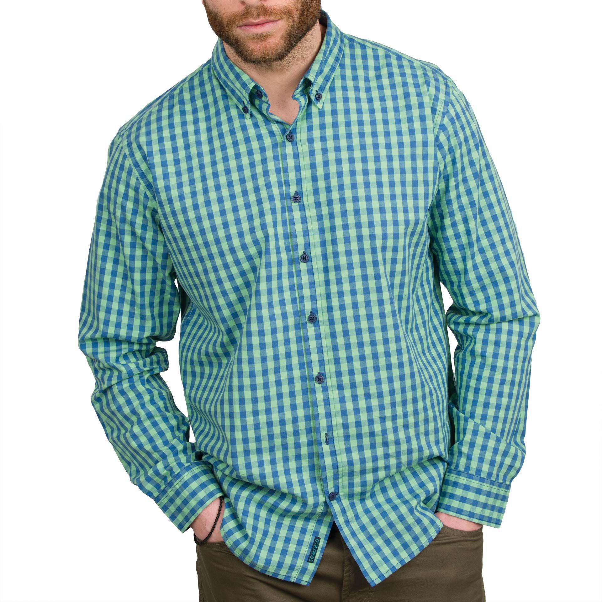Ανδρικό πουκάμισο Double GS-444 Πρασινο
