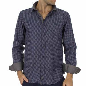Μακρυμάνικο Πουκάμισο CND Shirts 1650-1 Μπλε