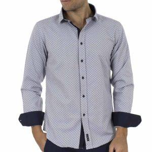 Μακρυμάνικο Πουκάμισο CND Shirts 1650-2 Γκρι