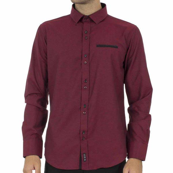 Μακρυμάνικο Πουκάμισο CND Shirts 2600-5 Μπορντό