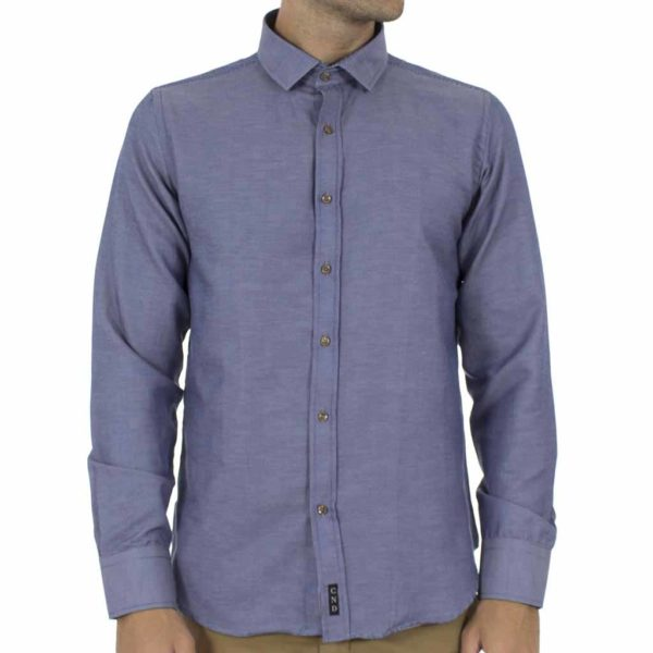 Μακρυμάνικο Πουκάμισο CND Shirts 2700-6 Indigo