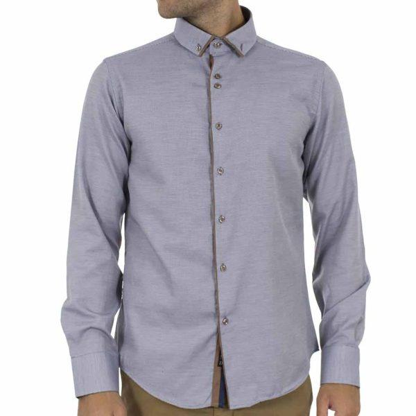 Μακρυμάνικο Πουκάμισο CND Shirts 2750-12A Γκρι