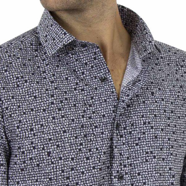 Μακρυμάνικο Πουκάμισο CND Shirts 2850-4 Μαύρο