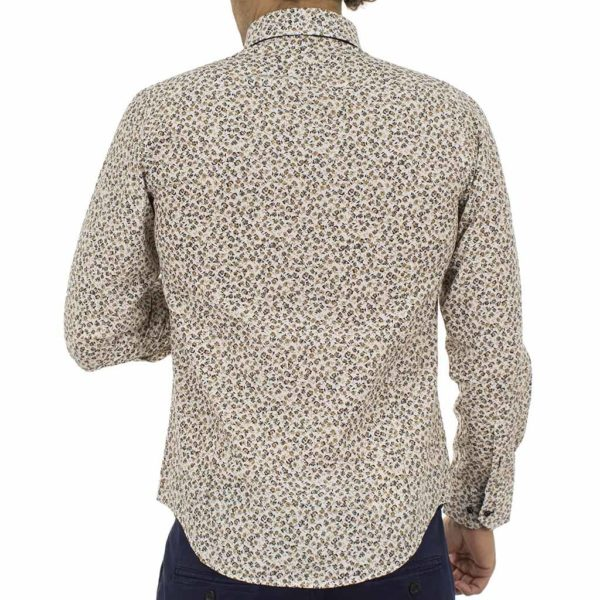 Φλοράλ Μακρυμάνικο Πουκάμισο CND Shirts 530-21 Εκρού