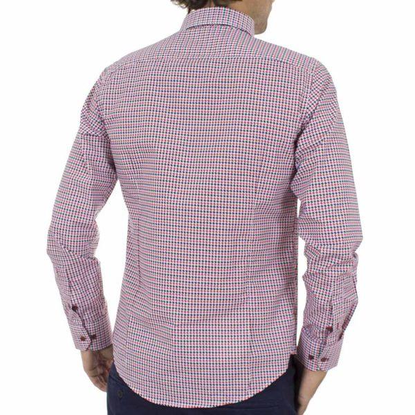 Μακρυμάνικο Πουκάμισο CND Shirts 550-19 Κόκκινο