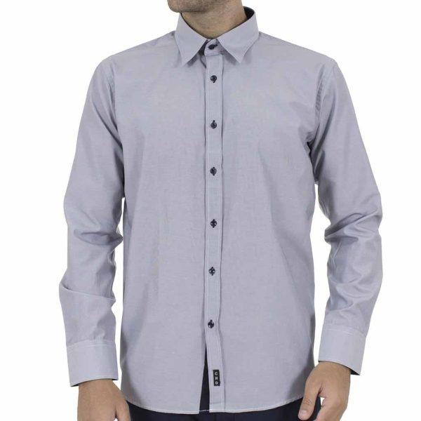 Μακρυμάνικο Πουκάμισο CND Shirts 600-4 Γκρι