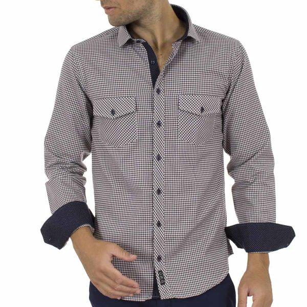 Καρό Μακρυμάνικο Πουκάμισο CND Shirts 610-1 Μαύρο