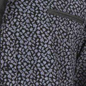 Φλοράλ Μακρυμάνικο Πουκάμισο CND Shirts 650-5 Μαύρο