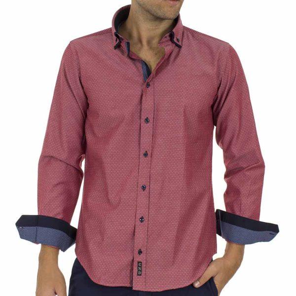 a38a24872202 Μακρυμάνικο Πουκάμισο CND Shirts 700-6 σκούρο Ροζ