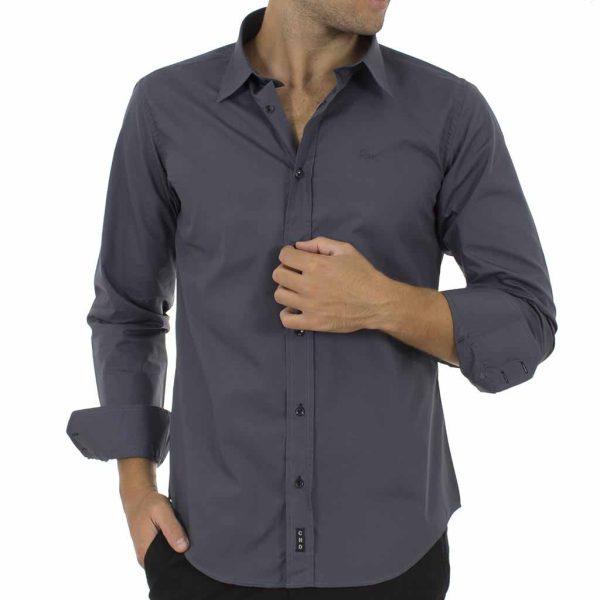 Μακρυμάνικο Πουκάμισο CND Shirts AN-001 Stone Blue