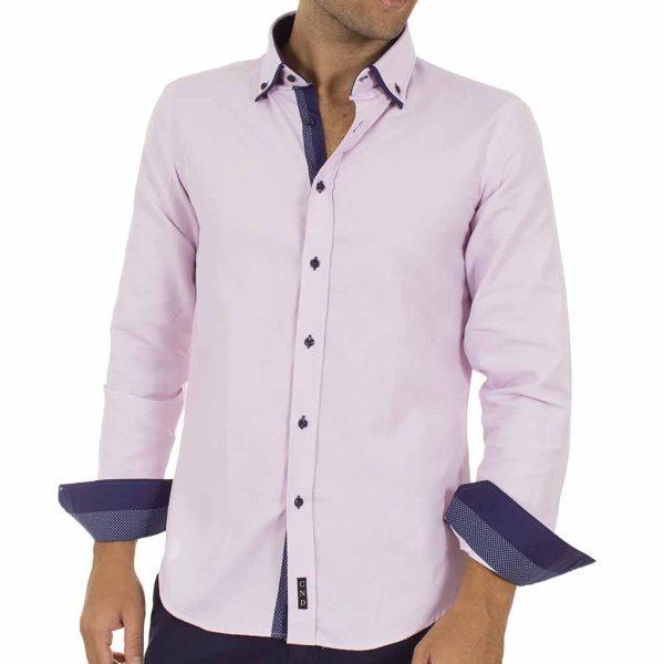 Μακρυμάνικο Πουκάμισο CND Shirts AN-004 ανοιχτό Μωβ