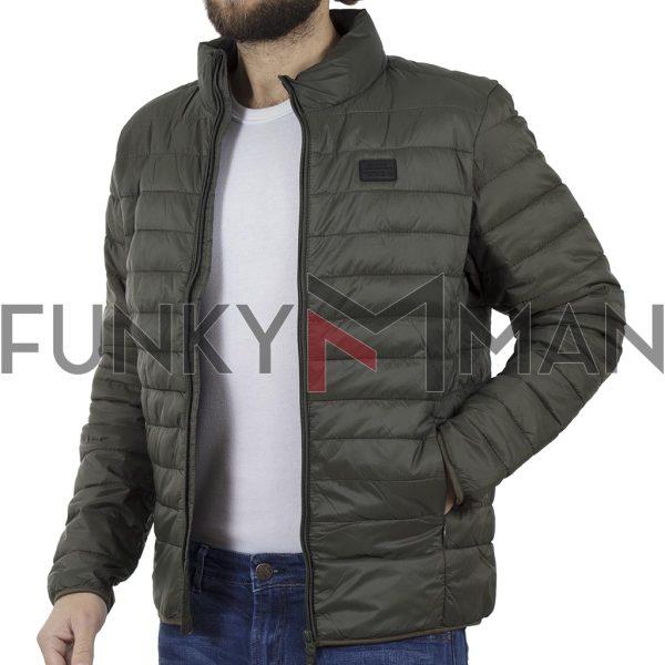Φουσκωτό Μπουφάν Puffer Jacket BLEND 20706185 Olive