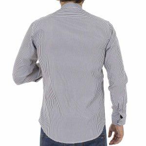 Ριγέ Μάο Μακρυμάνικο Πουκάμισο Slim Fit ENDESON CLUB 6030-100 Μαύρο