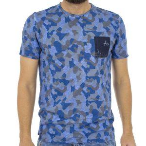 Κοντομάνικη Μπλούζα T-shirt Best Choice QUAKE S16088 Μπλε