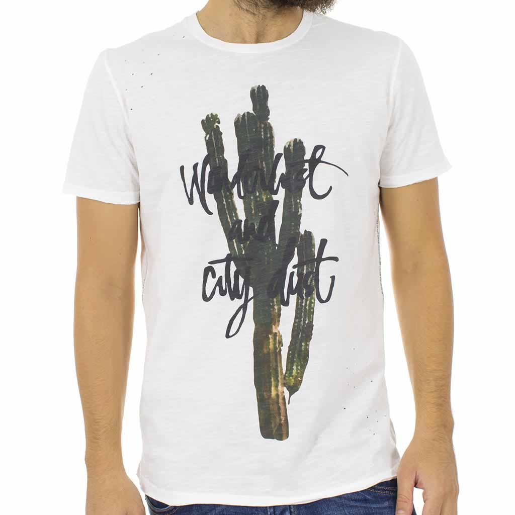 1a448f83bcf1 Κοντομάνικη Μπλούζα T-shirt Best Choice S18088 CACTUS Λευκό ...