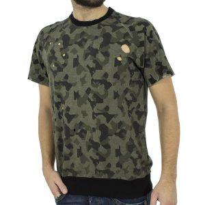 Κοντομάνικη Μπλούζα T-shirt Best Choice RIMMER W18096 παραλλαγή Πράσινο