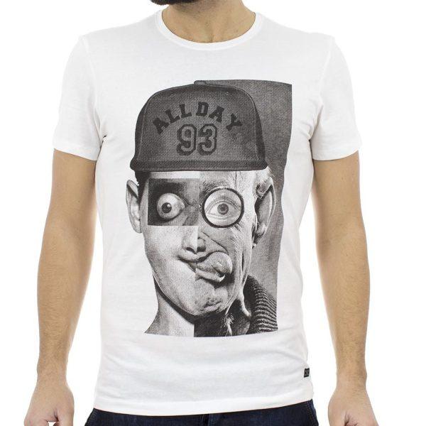 Κοντομάνικη Μπλούζα T-shirt BLEND 20704956 Λευκό