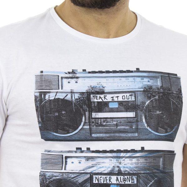 Κοντομάνικη Μπλούζα T-shirt BLEND 20704964 Λευκό