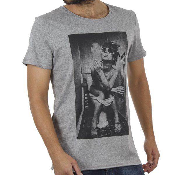 Κοντομάνικη Μπλούζα T-Shirt Tee BLEND 20706135 Γκρι