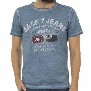 Κοντομάνικη Μπλούζα T-Shirt Back2Jeans B13 Βεραμάν