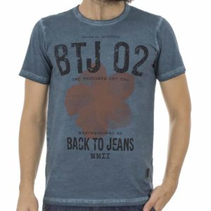 Κοντομάνικη Μπλούζα T-Shirt Back2Jeans B23 Βεραμάν