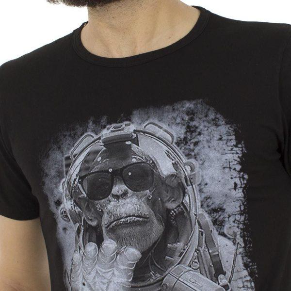 Κοντομάνικη Μπλούζα T-Shirt Back2jeans B1 Μαύρο