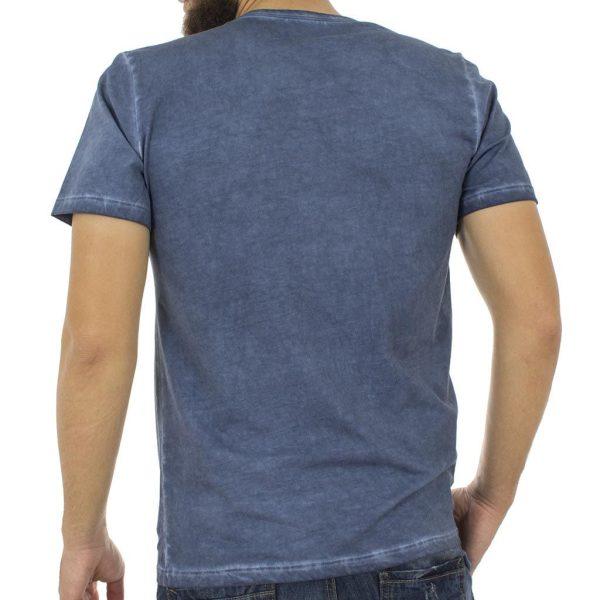 Κοντομάνικη Μπλούζα T-Shirt Back2jeans B13 Μπλε ραφ