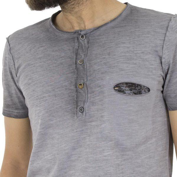 Κοντομάνικη Μπλούζα T-shirt Best Choice AFTER S18088 Γκρι
