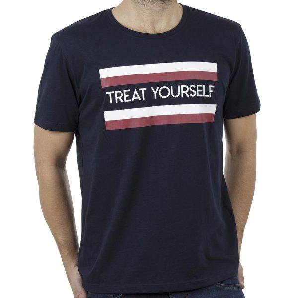 Κοντομάνικο Μπλουζάκι T-Shirt Celio NECOOL Navy