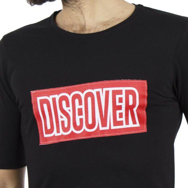 Κοντομάνικη Μπλούζα T-Shirt COVER DISK Y201 Μαύρο