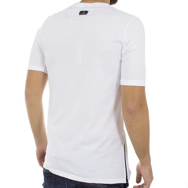 Κοντομάνικη Μπλούζα T-shirt COVER Jeans LUPO 0144 Λευκό
