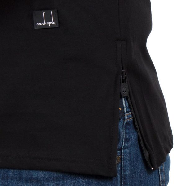 Κοντομάνικη Μπλούζα T-Shirt COVER LUPO Y204 Μαύρο
